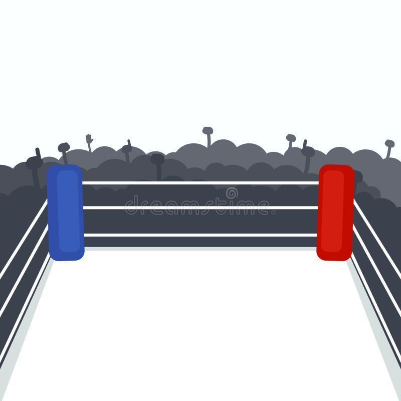Pusty bokserski pierścionek ilustracja wektor