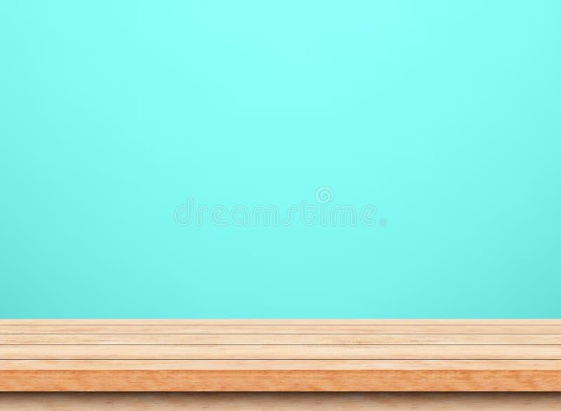 Pusty brown drewniany stołowy wierzchołek zdjęcie royalty free