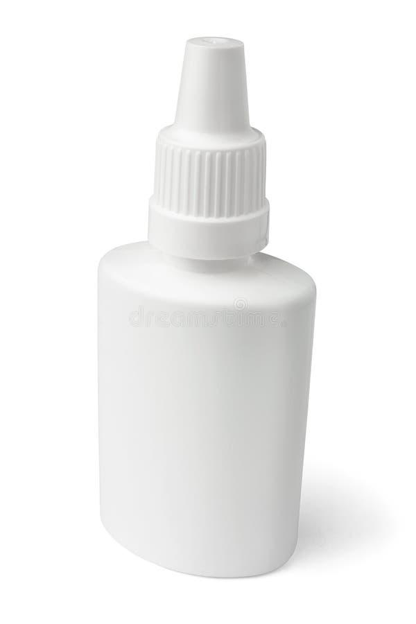 pusty butelki nosowej kiści biel zdjęcia stock
