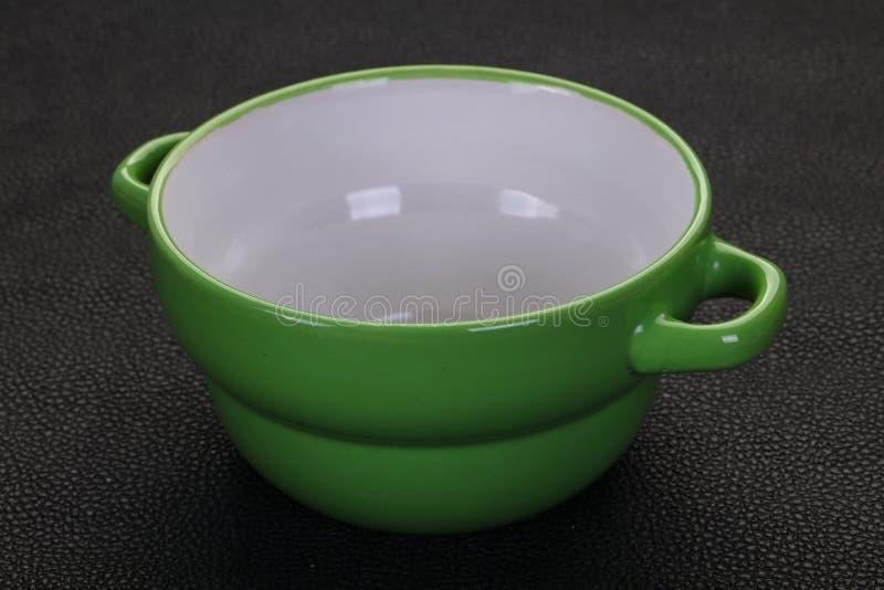 Pusty ceramiczny puchar zdjęcie royalty free