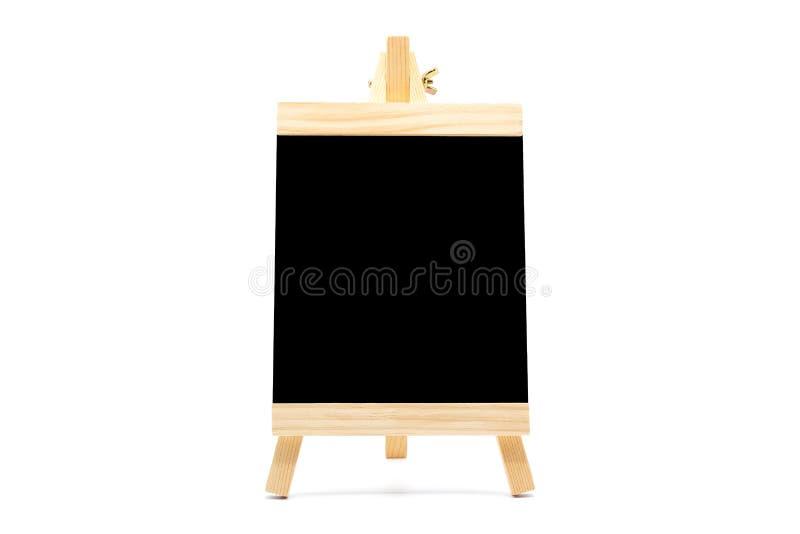 Pusty chalkboard sztalugi stojak, odosobniony na białym tle zdjęcie stock