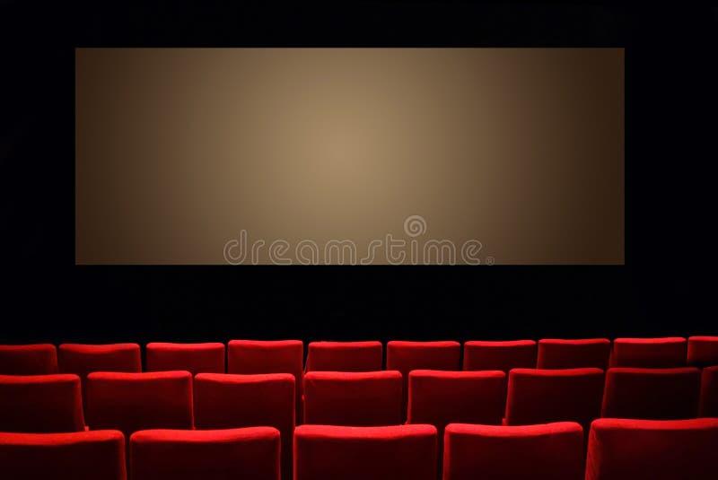 Pusty ciemny theatre audytorium kino zdjęcia stock