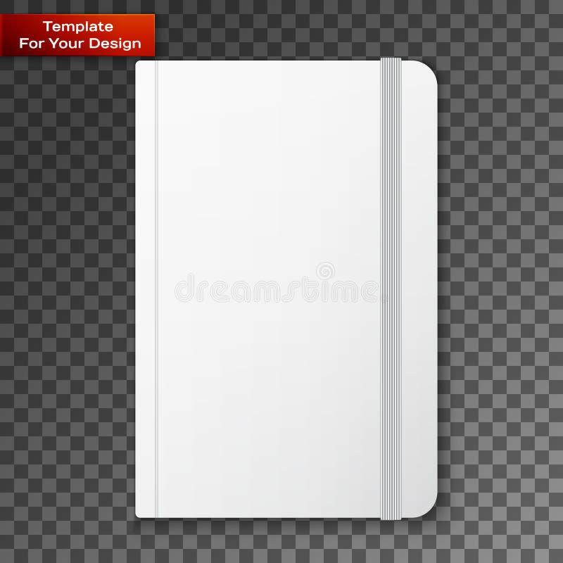 Pusty copybook szablon z elastycznym zespołem ilustracji