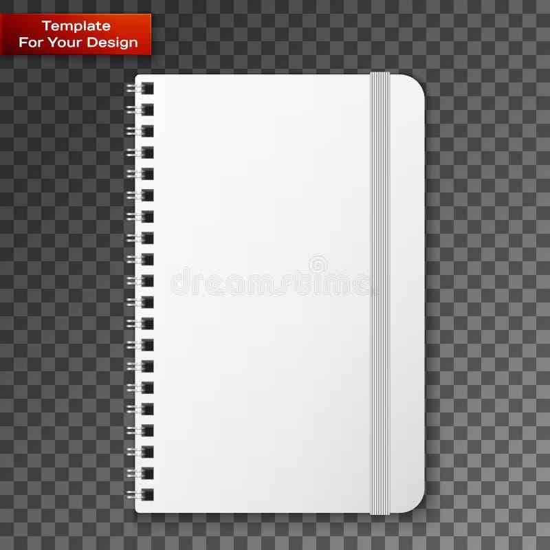 Pusty copybook szablon z elastycznym zespołem ilustracja wektor