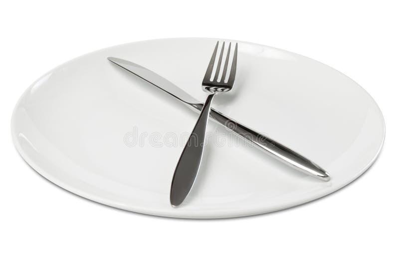 pusty cutlery talerz obraz royalty free