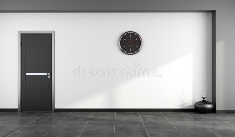 Pusty czarny i biały pokój ilustracja wektor