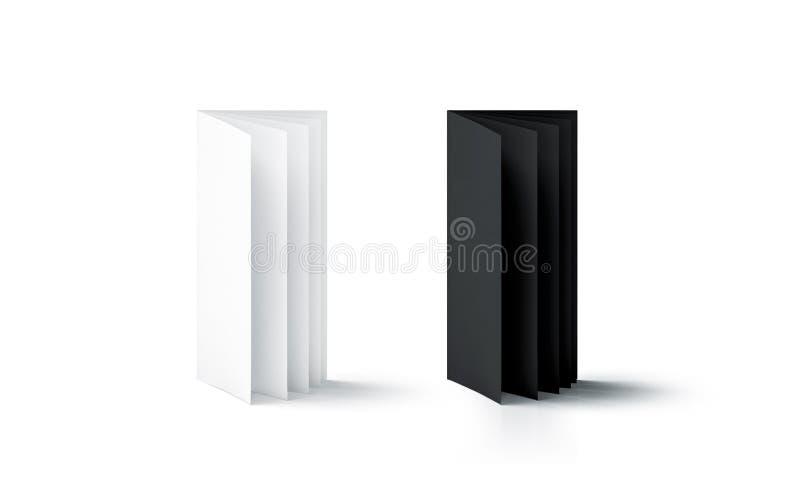 Pusty czarny i biały strony broszury stojaka egzamin próbny up obrazy royalty free