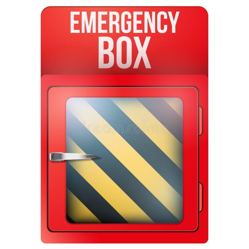 Pusty czerwieni pudełko w przypadku z nagłym wypadkiem royalty ilustracja