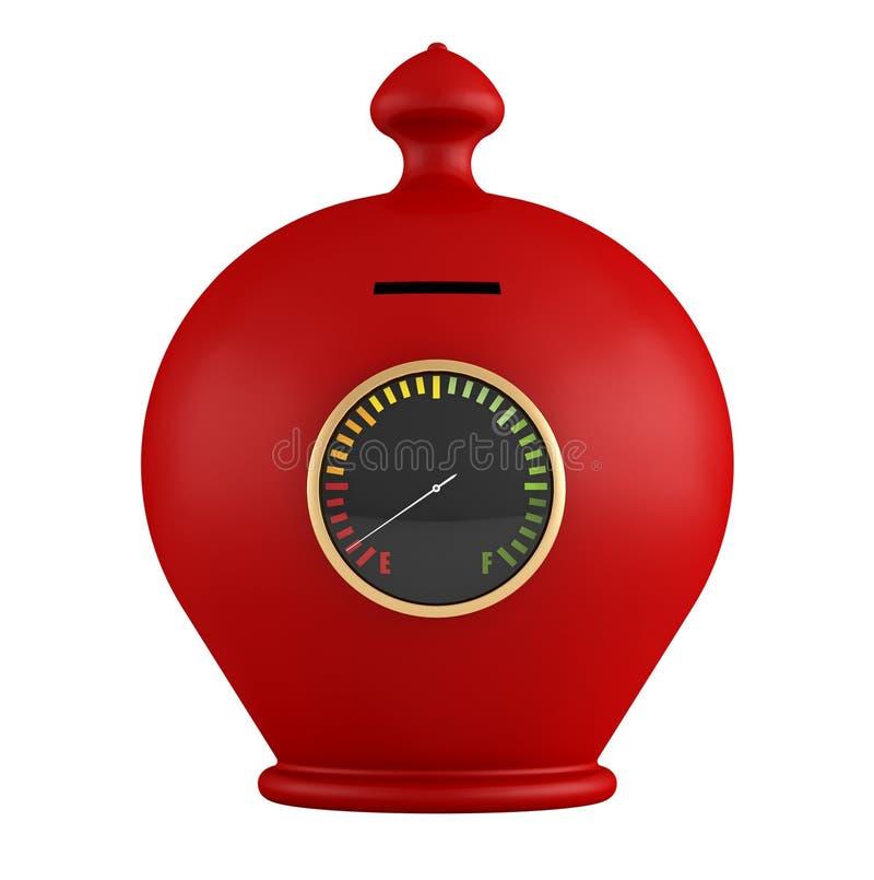 Download Pusty czerwony moneybox ilustracji. Obraz złożonej z odosobniony - 32810188