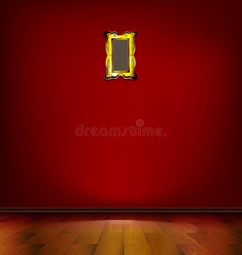 pusty czerwony pokój royalty ilustracja