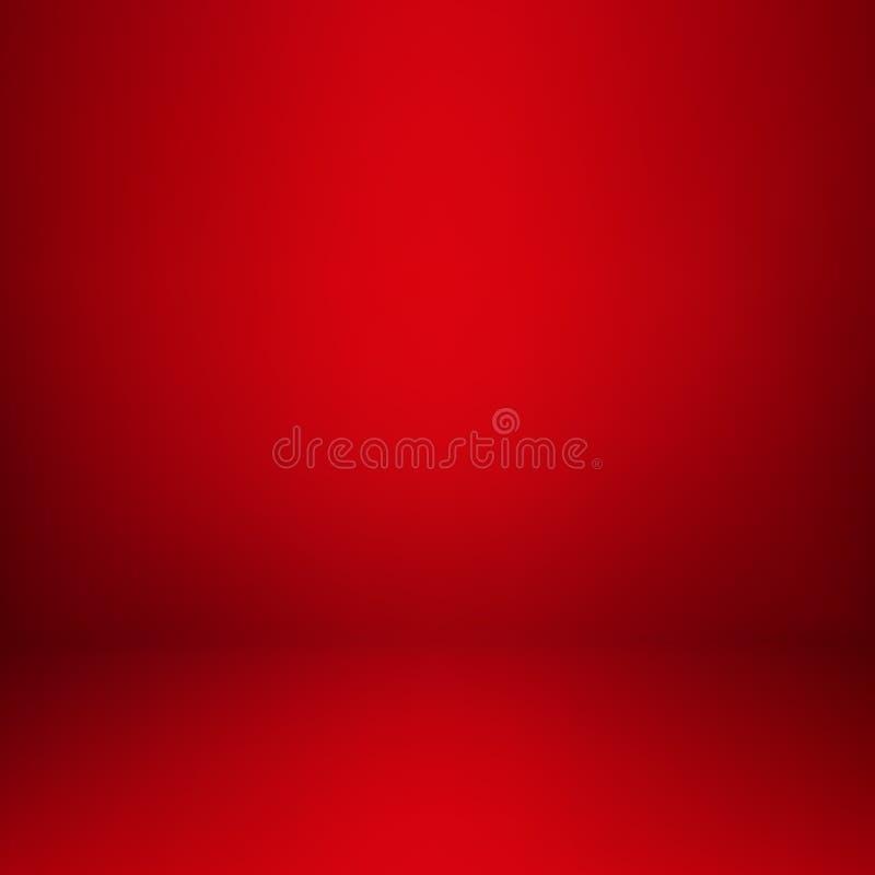 Pusty czerwony pracowniany izbowy wn?trze Czy?ci warsztat dla fotografii lub prezentaci r?wnie? zwr?ci? corel ilustracji wektora royalty ilustracja
