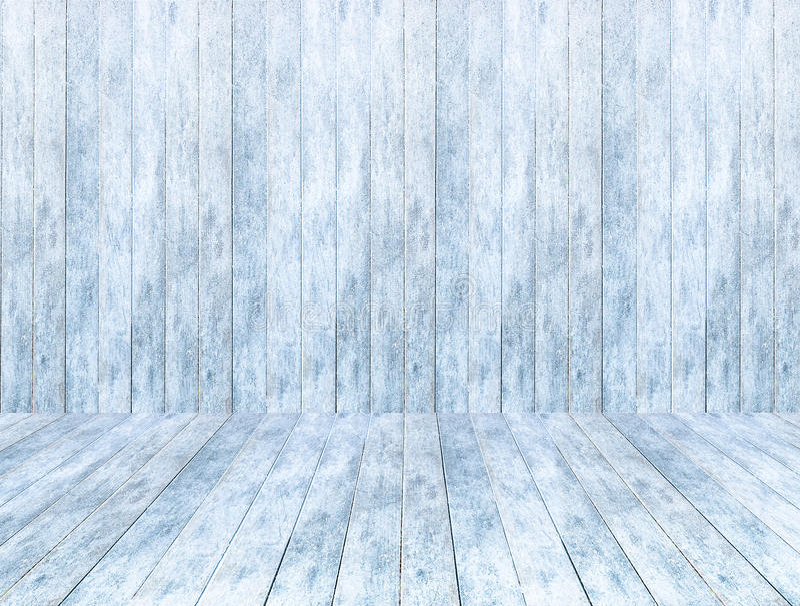 Pusty drewniany lodowy panelu tło, drewniana lodowa podłoga i stół z śniegiem obraz royalty free