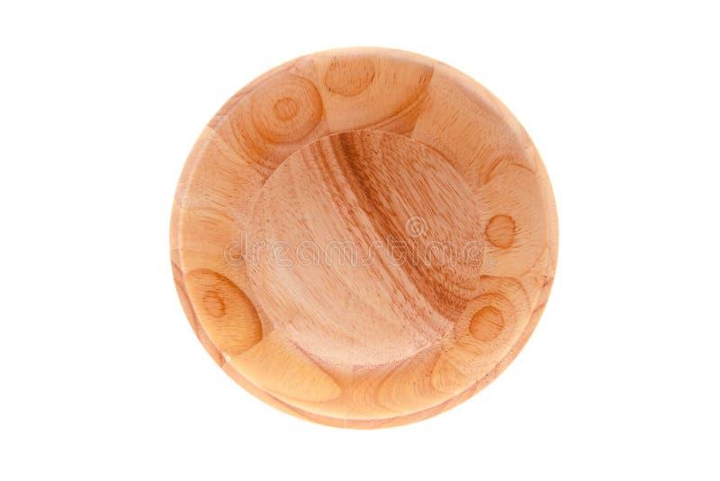 Pusty Drewniany puchar, odgórny widok obrazy stock