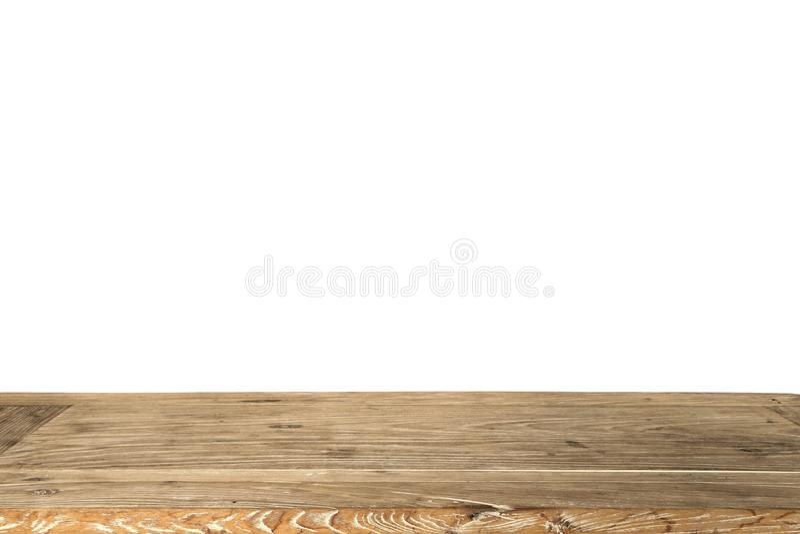 Pusty drewniany stół dla pokazu produktu obraz royalty free