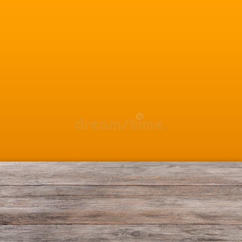 Pusty drewniany stół na białym tle ilustracja wektor