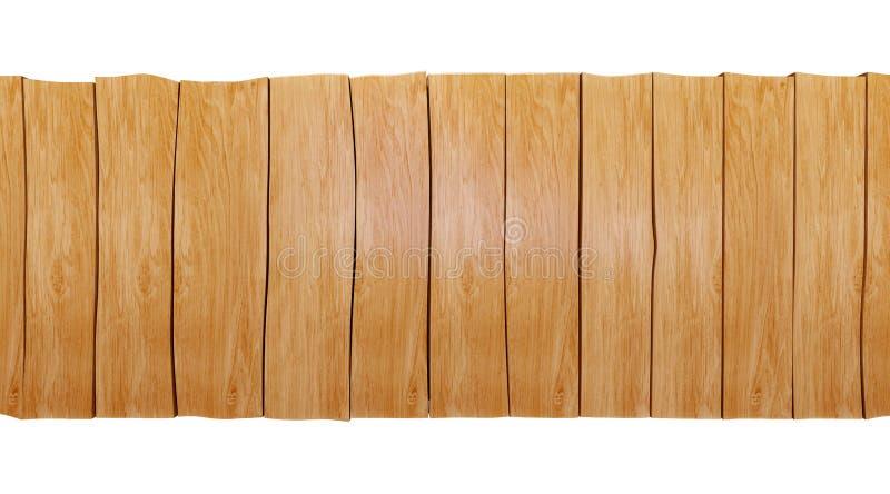 Pusty drewniany stołowy odgórny odosobniony na białym tle, zdjęcie royalty free