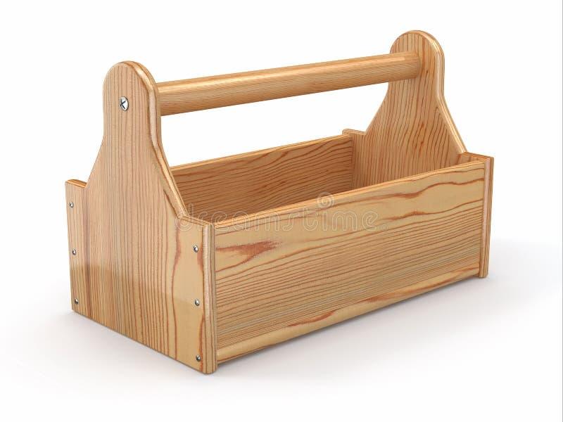 Pusty drewniany toolbox. 3d ilustracja wektor