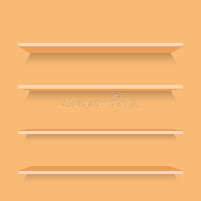Pusty drewno Odkłada szablon royalty ilustracja