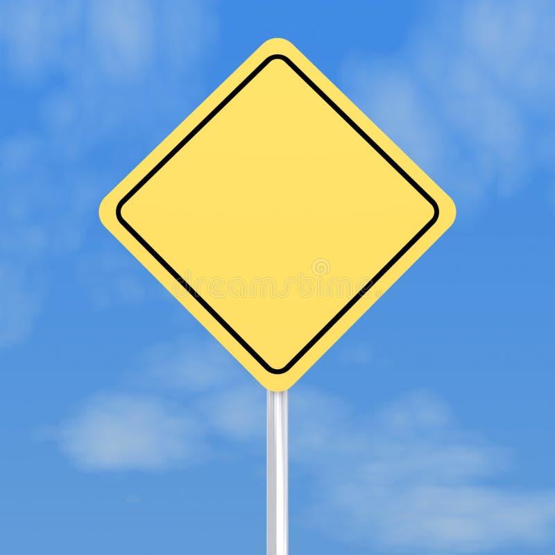pusty drogowy znak ilustracja wektor