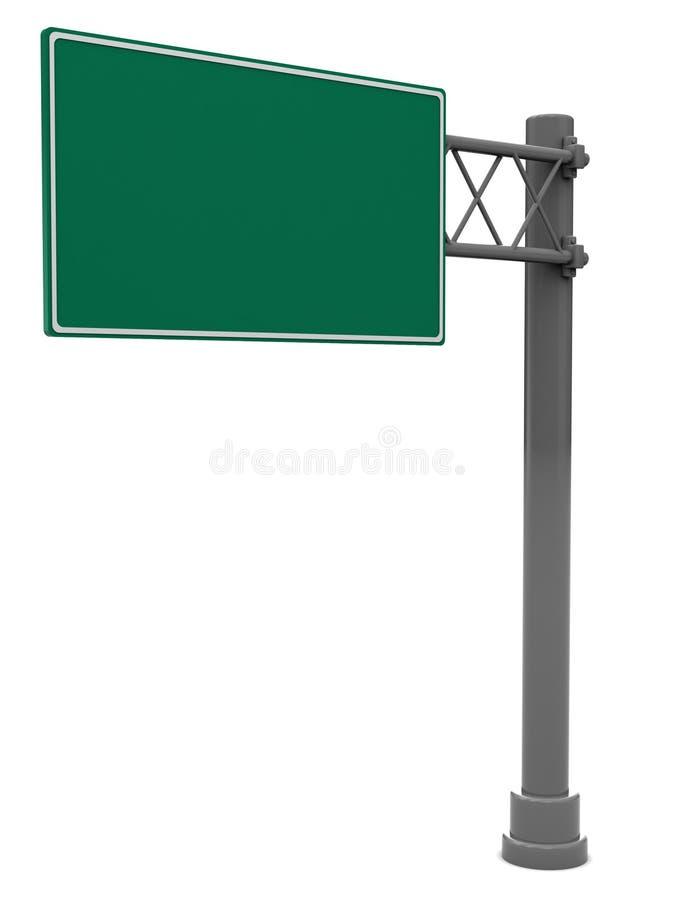 pusty drogowy znak royalty ilustracja