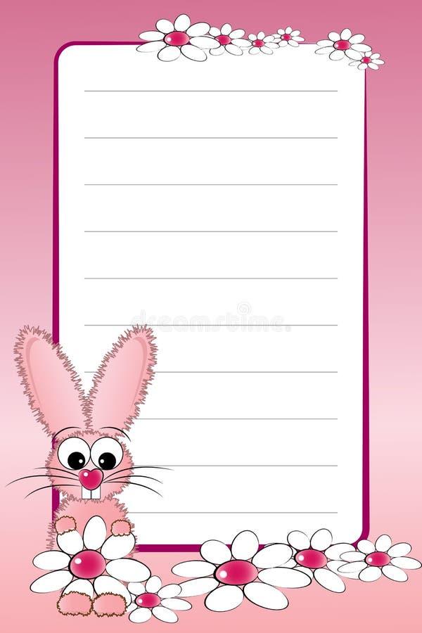 pusty dzieciak wykładająca notatnika strona ilustracja wektor