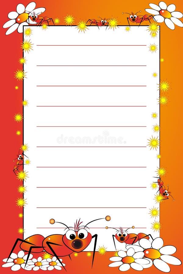 pusty dzieciak wykładająca notatnika strona ilustracji
