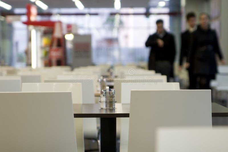Pusty fasta food kawiarni wnętrze obraz royalty free
