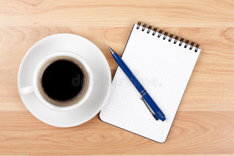 Download Pusty Filiżanki Kawa Espresso Notepad Pióro Zdjęcie Stock - Obraz złożonej z smakosz, bąbel: 13333056