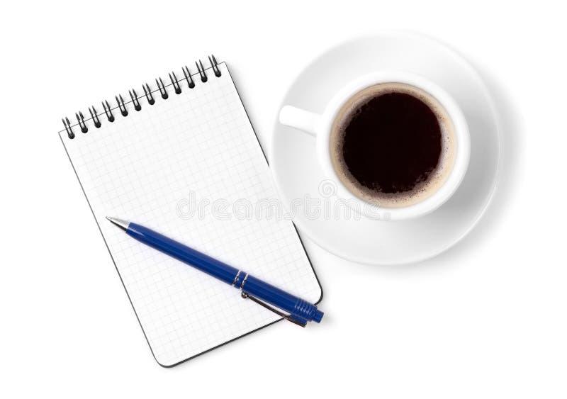Download Pusty Filiżanki Kawa Espresso Organizatora Pióro Zdjęcie Stock - Obraz złożonej z above, espresso: 13331348