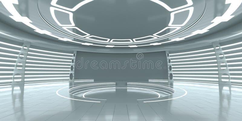 Pusty futurystyczny wnętrze obraz stock