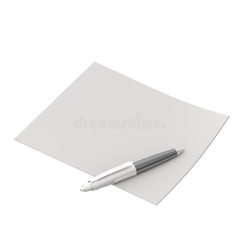pusty glansowanego papieru pióro ilustracja wektor