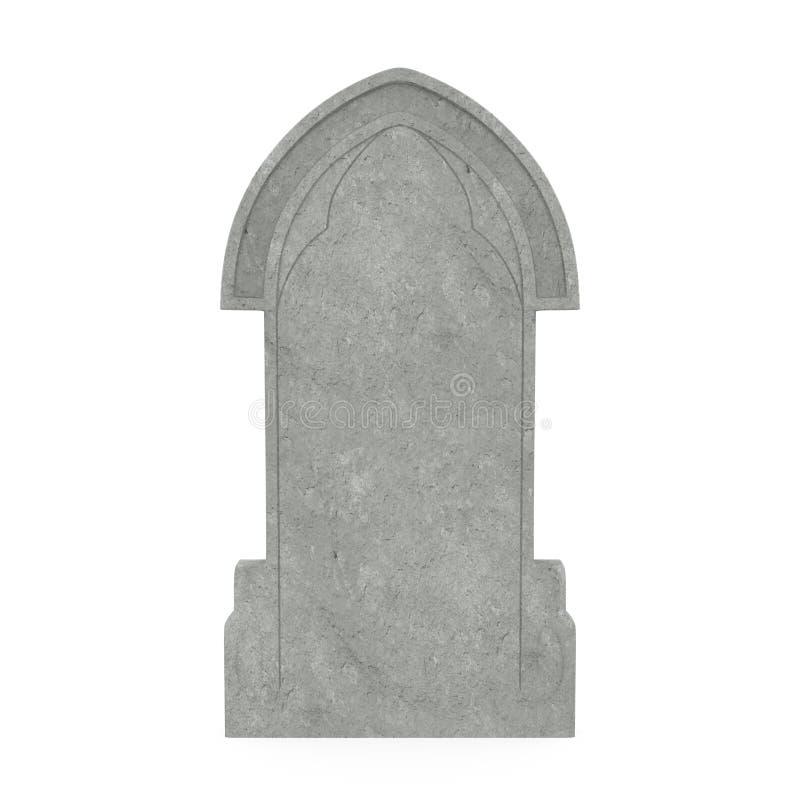 Pusty gravestone odizolowywający zdjęcia royalty free