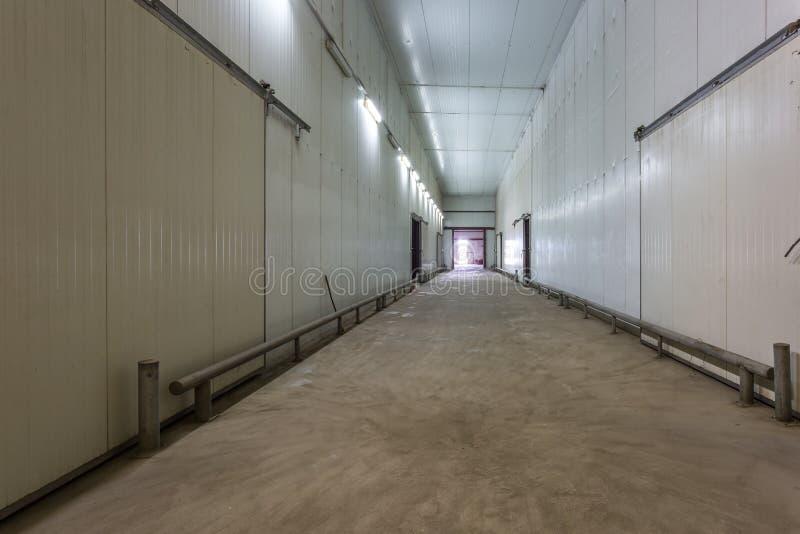 Pusty hangar dla owoc i warzywo w magazynu zapasie Produkcja magazyn Roślina przemysł zdjęcia stock