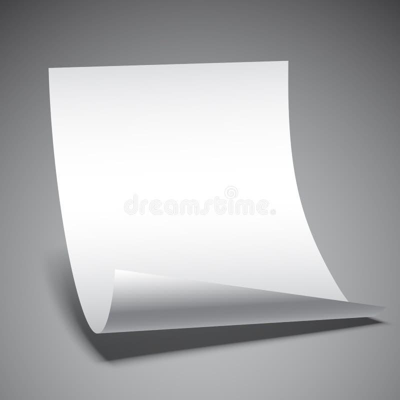pusty ilustracja papieru prześcieradła wektora ilustracji