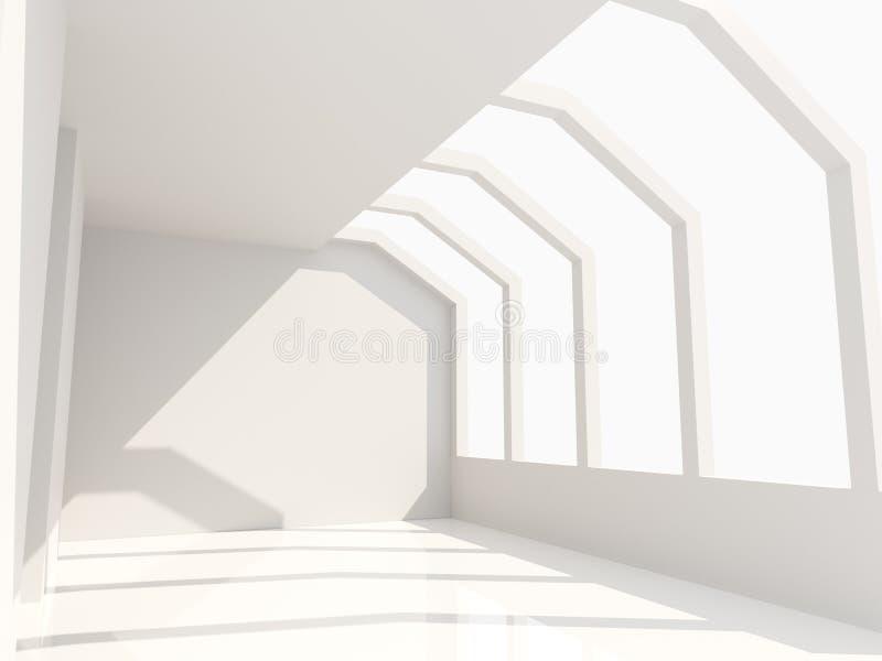 Pusty Izbowy biel ilustracja wektor