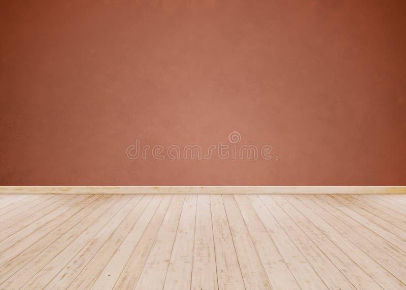 Pusty Izbowy tło i rewolucjonistka cement ściana z Drewnianym zdjęcie stock