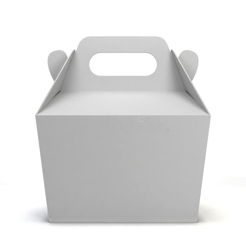 Pusty jedzenia pudełko ilustracji