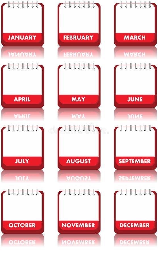 pusty kalendarz ilustracja wektor
