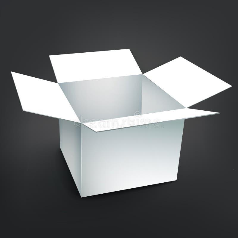 Pusty karton z miękkim cieniem ilustracji