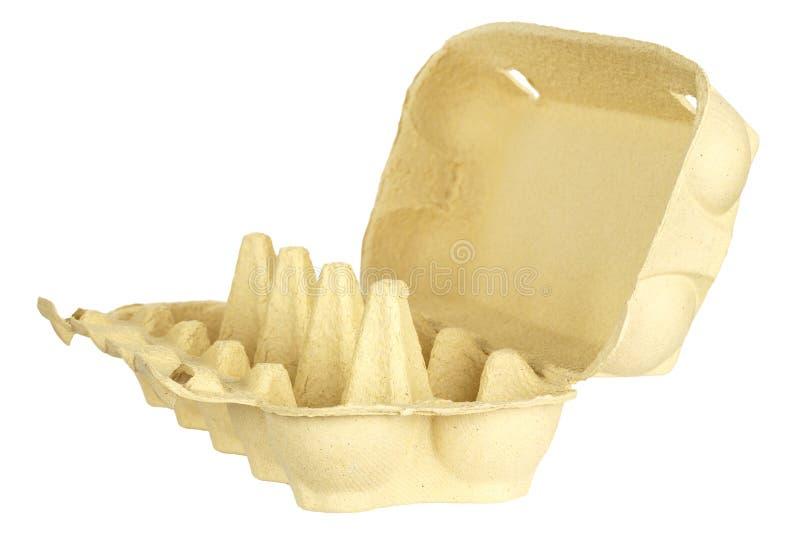 Pusty kartonowy jajeczny karton zdjęcia stock