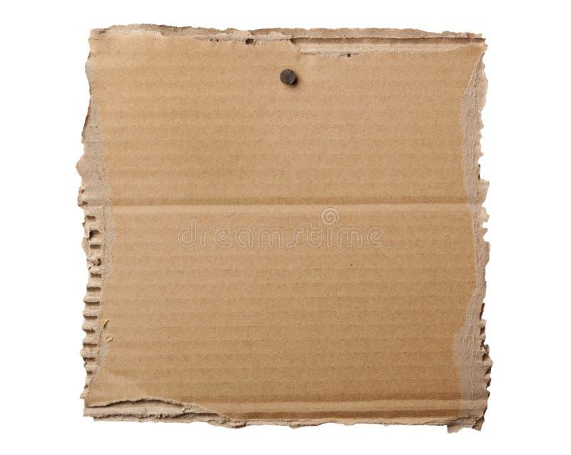 pusty kartonowy signage zdjęcie stock