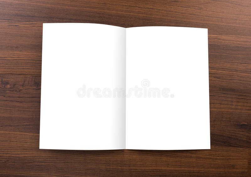 Pusty katalog, broszurka, egzamin próbny up fotografia stock