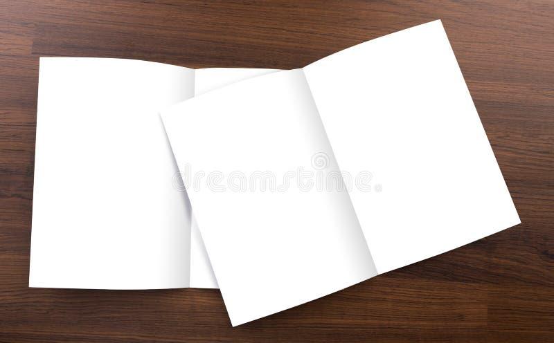 Pusty katalog, broszurka, egzamin próbny up zdjęcie royalty free