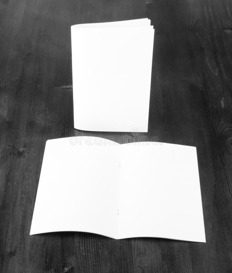 Pusty katalog, broszurka, książka egzamin próbny up obrazy royalty free