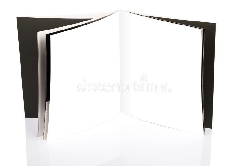 Pusty katalog, broszurka, magazyny fotografia stock
