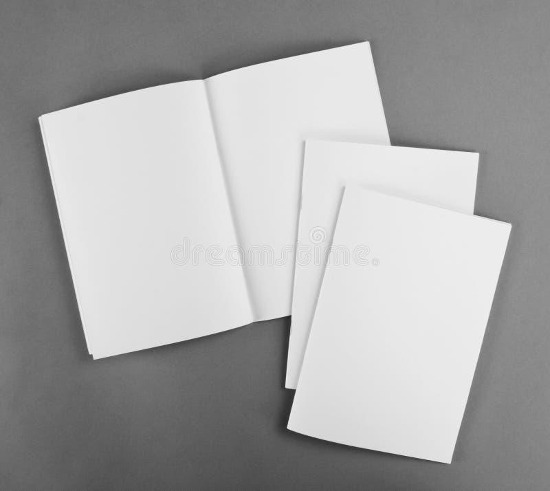 Pusty katalog, broszurka, magazyny, książka egzamin próbny up zdjęcia stock