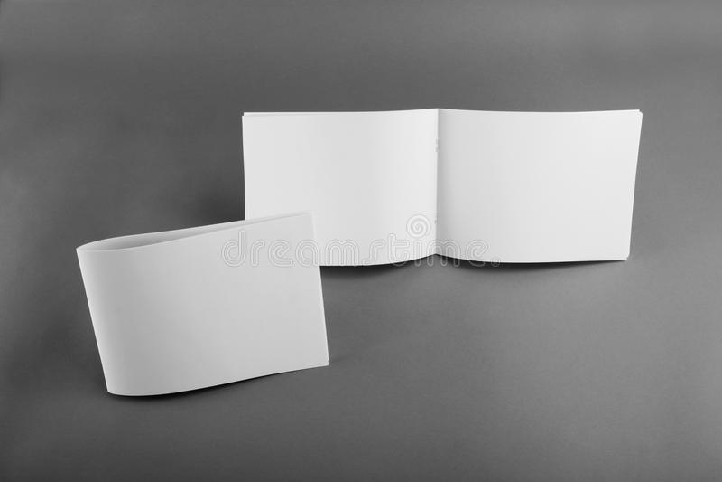 Pusty katalog, broszurka, magazyny, książka egzamin próbny up fotografia stock