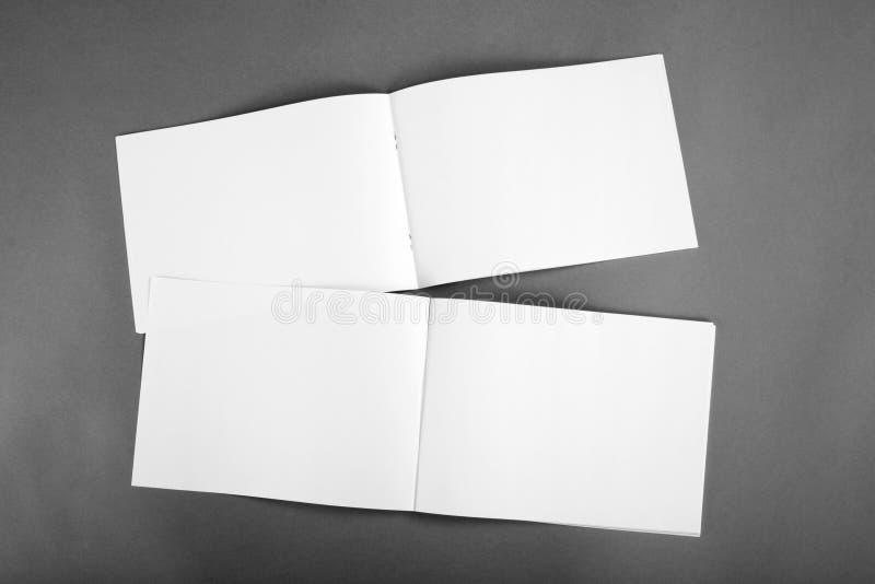 Pusty katalog, broszurka, magazyny, książka egzamin próbny up obraz royalty free
