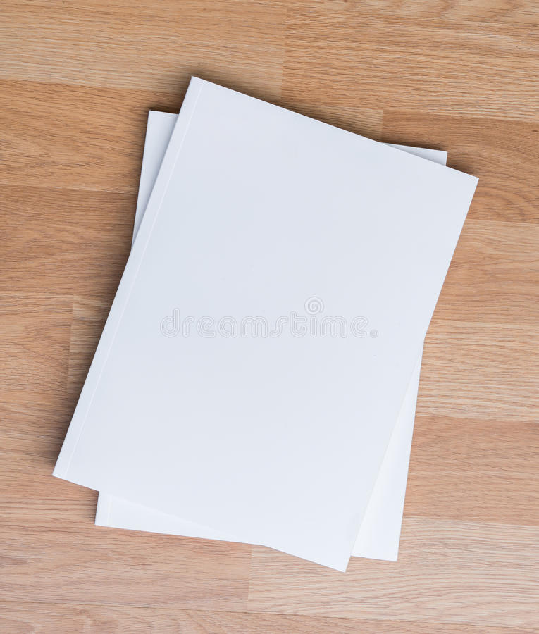 Pusty katalog, magazyny, książka egzamin próbny up zdjęcie stock