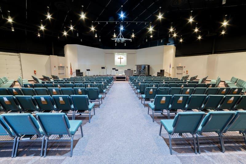 Pusty Kościelny audytorium obraz royalty free